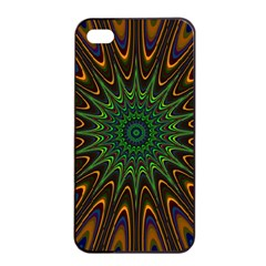 Vibrant Colorful Abstract Pattern Seamless Apple Iphone 4/4s Seamless Case (black) by Simbadda