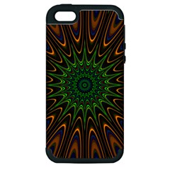 Vibrant Colorful Abstract Pattern Seamless Apple Iphone 5 Hardshell Case (pc+silicone) by Simbadda