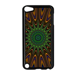Vibrant Colorful Abstract Pattern Seamless Apple Ipod Touch 5 Case (black) by Simbadda