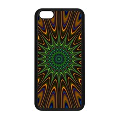 Vibrant Colorful Abstract Pattern Seamless Apple Iphone 5c Seamless Case (black) by Simbadda