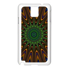 Vibrant Colorful Abstract Pattern Seamless Samsung Galaxy Note 3 N9005 Case (white) by Simbadda