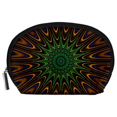 Vibrant Colorful Abstract Pattern Seamless Accessory Pouches (large)  by Simbadda