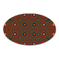 Vibrant Pattern Seamless Colorful Oval Magnet by Simbadda