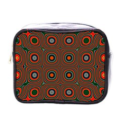 Vibrant Pattern Seamless Colorful Mini Toiletries Bags by Simbadda