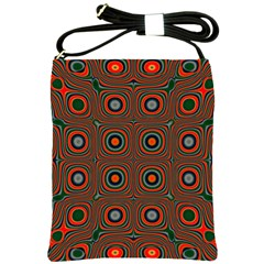 Vibrant Pattern Seamless Colorful Shoulder Sling Bags by Simbadda