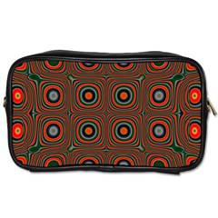 Vibrant Pattern Seamless Colorful Toiletries Bags 2 Side by Simbadda