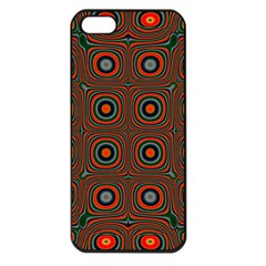 Vibrant Pattern Seamless Colorful Apple Iphone 5 Seamless Case (black) by Simbadda