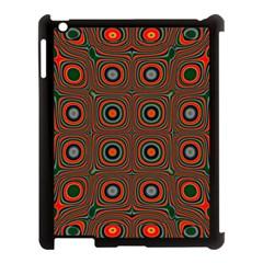 Vibrant Pattern Seamless Colorful Apple Ipad 3/4 Case (black) by Simbadda