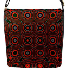 Vibrant Pattern Seamless Colorful Flap Messenger Bag (s) by Simbadda