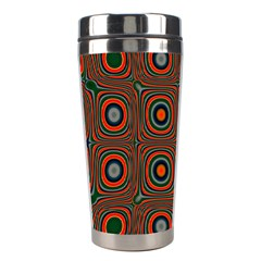 Vibrant Pattern Seamless Colorful Stainless Steel Travel Tumblers by Simbadda