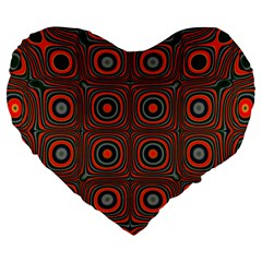 Vibrant Pattern Seamless Colorful Large 19  Premium Flano Heart Shape Cushions by Simbadda
