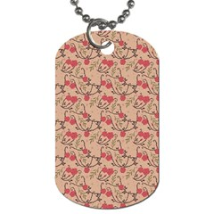 Vintage Flower Pattern  Dog Tag (one Side) by TastefulDesigns