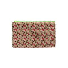 Vintage Flower Pattern  Cosmetic Bag (xs) by TastefulDesigns