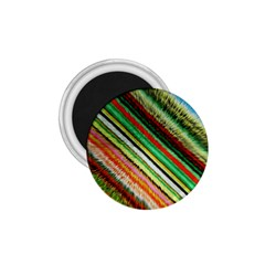 Colorful Stripe Extrude Background 1 75  Magnets by Simbadda
