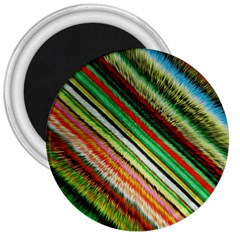 Colorful Stripe Extrude Background 3  Magnets by Simbadda