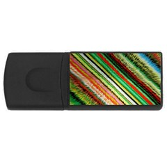 Colorful Stripe Extrude Background Usb Flash Drive Rectangular (4 Gb) by Simbadda