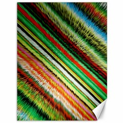 Colorful Stripe Extrude Background Canvas 36  X 48