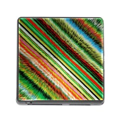 Colorful Stripe Extrude Background Memory Card Reader (square) by Simbadda