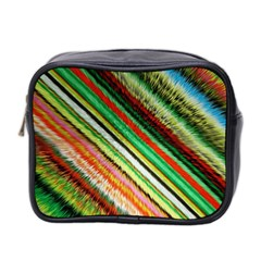 Colorful Stripe Extrude Background Mini Toiletries Bag 2 Side by Simbadda