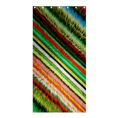 Colorful Stripe Extrude Background Shower Curtain 36  X 72  (stall)  by Simbadda