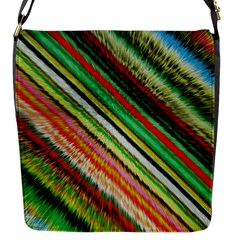 Colorful Stripe Extrude Background Flap Messenger Bag (s) by Simbadda