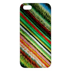 Colorful Stripe Extrude Background Iphone 5s/ Se Premium Hardshell Case by Simbadda