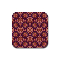 Abstract Seamless Mandala Background Pattern Rubber Coaster (square)  by Simbadda