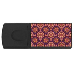 Abstract Seamless Mandala Background Pattern Usb Flash Drive Rectangular (4 Gb) by Simbadda