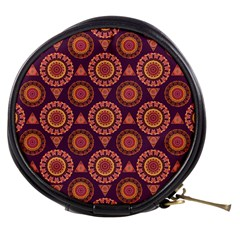 Abstract Seamless Mandala Background Pattern Mini Makeup Bags by Simbadda