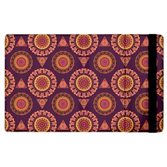 Abstract Seamless Mandala Background Pattern Apple Ipad 2 Flip Case by Simbadda