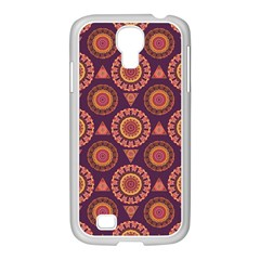 Abstract Seamless Mandala Background Pattern Samsung Galaxy S4 I9500/ I9505 Case (white) by Simbadda