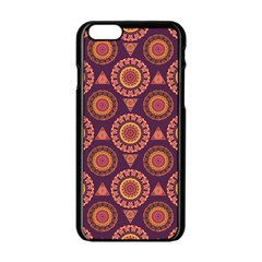 Abstract Seamless Mandala Background Pattern Apple Iphone 6/6s Black Enamel Case by Simbadda