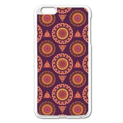 Abstract Seamless Mandala Background Pattern Apple Iphone 6 Plus/6s Plus Enamel White Case by Simbadda