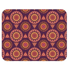 Abstract Seamless Mandala Background Pattern Double Sided Flano Blanket (medium)  by Simbadda