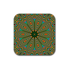 Vibrant Seamless Pattern  Colorful Rubber Coaster (square)  by Simbadda