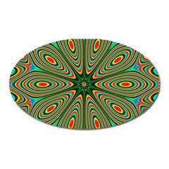 Vibrant Seamless Pattern  Colorful Oval Magnet by Simbadda