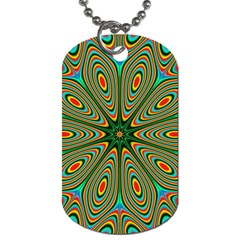 Vibrant Seamless Pattern  Colorful Dog Tag (two Sides) by Simbadda