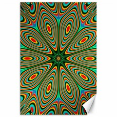 Vibrant Seamless Pattern  Colorful Canvas 20  X 30   by Simbadda