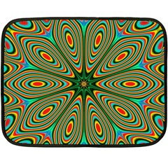 Vibrant Seamless Pattern  Colorful Fleece Blanket (mini) by Simbadda