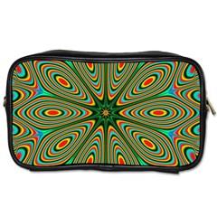 Vibrant Seamless Pattern  Colorful Toiletries Bags 2 Side by Simbadda