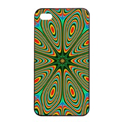 Vibrant Seamless Pattern  Colorful Apple Iphone 4/4s Seamless Case (black) by Simbadda