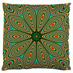 Vibrant Seamless Pattern  Colorful Large Cushion Case (two Sides) by Simbadda