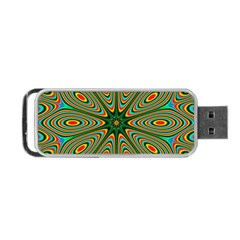 Vibrant Seamless Pattern  Colorful Portable Usb Flash (two Sides) by Simbadda