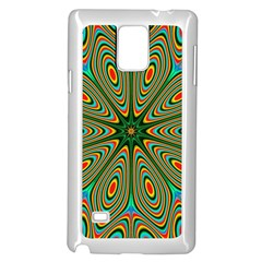 Vibrant Seamless Pattern  Colorful Samsung Galaxy Note 4 Case (white)