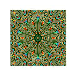 Vibrant Seamless Pattern  Colorful Small Satin Scarf (square) by Simbadda
