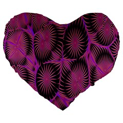 Self Similarity And Fractals Large 19  Premium Heart Shape Cushions by Simbadda