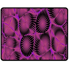 Self Similarity And Fractals Double Sided Fleece Blanket (medium)  by Simbadda
