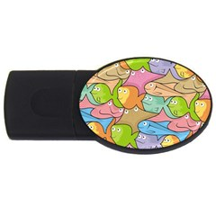 Fishes Cartoon Usb Flash Drive Oval (4 Gb) by sifis