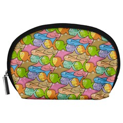 Fishes Cartoon Accessory Pouches (large)  by sifis