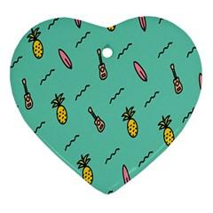 Guitar Pineapple Ornament (heart) by Alisyart